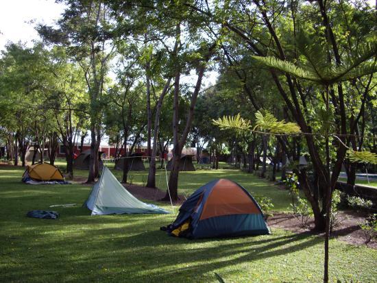 Prostor pro stany v Twiga Lodge & Campsite