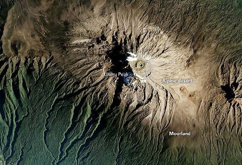 Kilimandžáro - klimatická pásma
