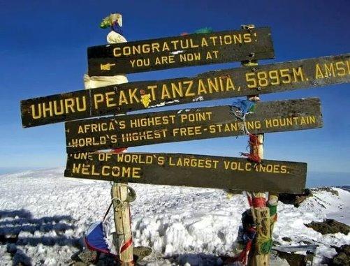 Výstup na Kilimandžáro - Uhuru Peak