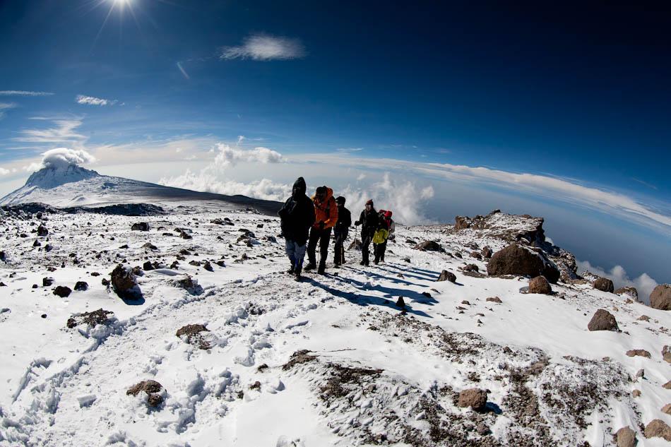 Ledovce na vrcholu pohoří Kilimandžáro