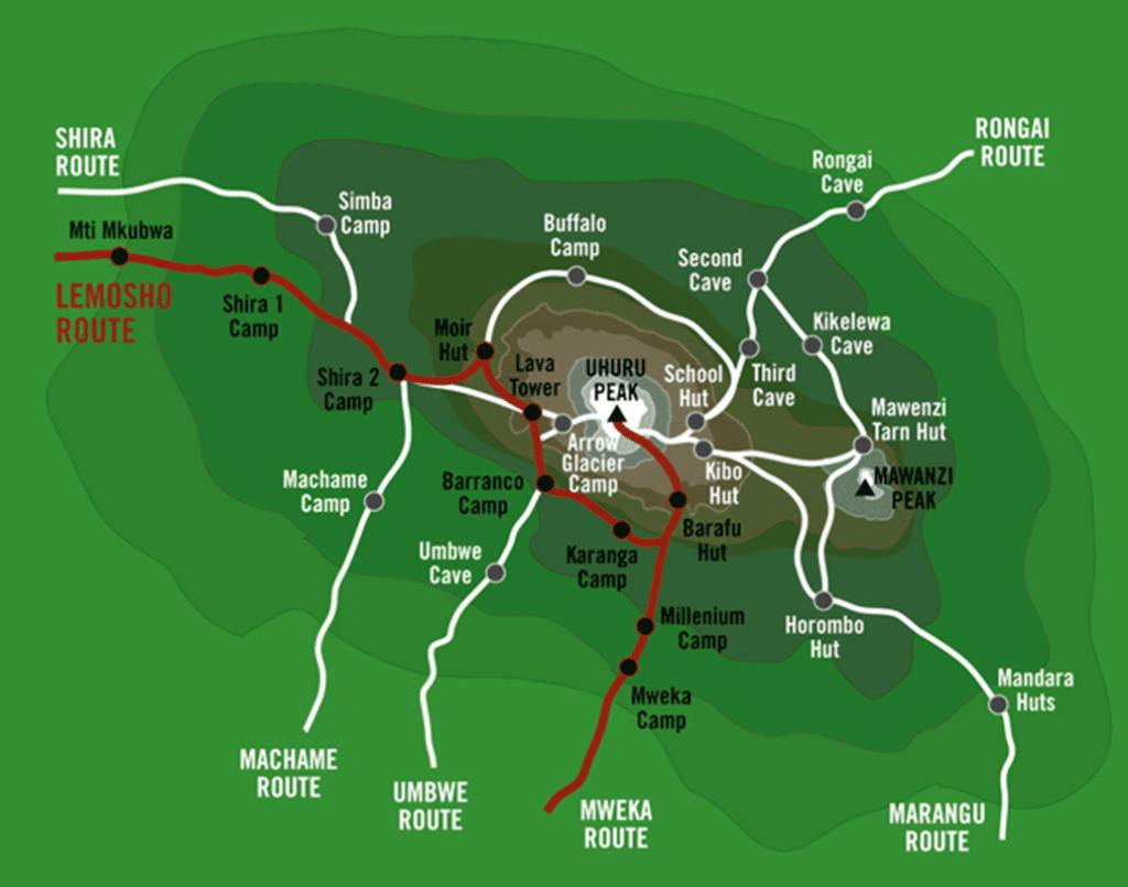 Výstup na Kilimandžáro trasa Lemosho 8 dní