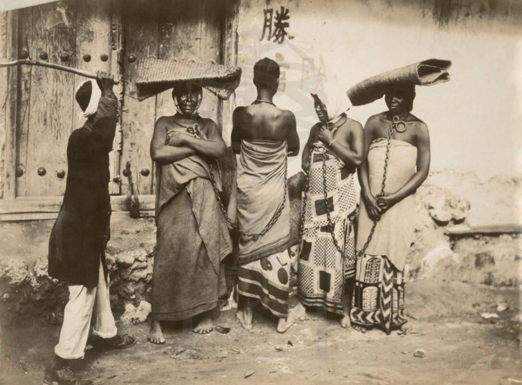 Trh s otroky Zanzibar Tanzanie