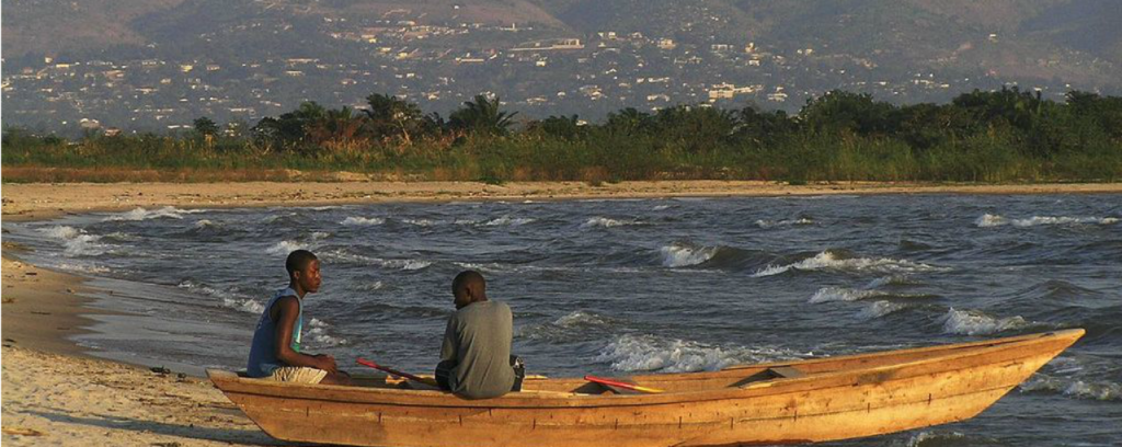 Jezero Tanganika v Tanzanii