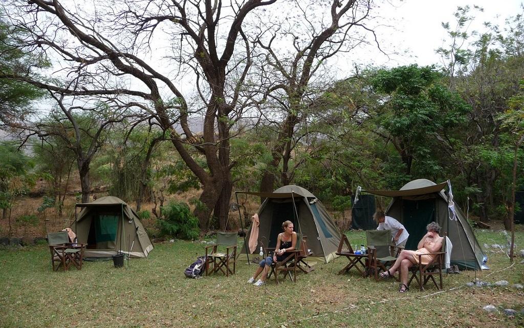 V Ngorongoro Simba Campsite není o společnost nouzi