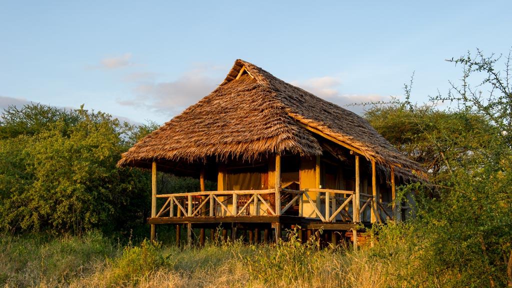 Chatky v Burunge Tented Lodge nabízí krásný výhled po okolí