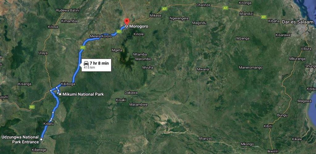 3 dny trek v horách Udzungwa