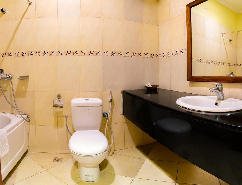 Koupelna a záchod v The Mvuli Hotel
