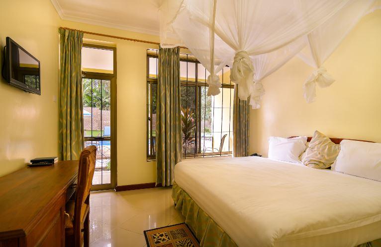 Dvoulůžkový pokoj s jednou King postelí v The Mvuli Hotel