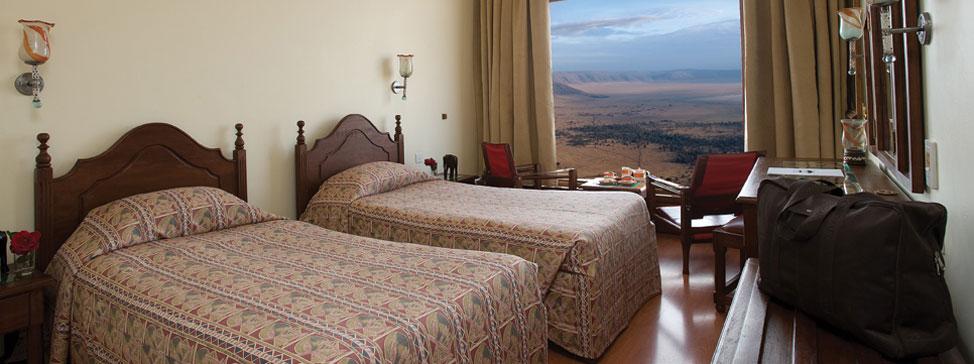 Ngorongoro Wildlife Lodge nabízí výhled z pokojů přímo na kráter