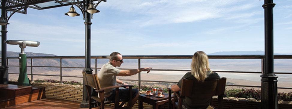 Lounge bar Rhino v Ngorongoro Wildlife Lodge